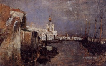 Cityscape Painting - Canal Impressionist seascape John Henry Twachtman Venice