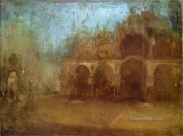 Cityscape Painting - Nocturne Blue and Gold St Marks James Abbott McNeill Whistler Venice