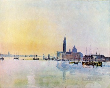 San Guirgio from the Dogana Sunrise Romantic landscape Turner Venice Oil Paintings