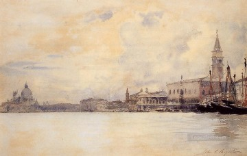 Cityscape Painting - The Entrance to the Grand Canal John Singer Sargent Venice