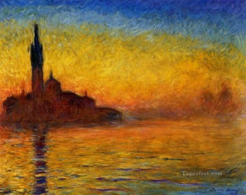Twilight Claude Monet Venice Oil Paintings