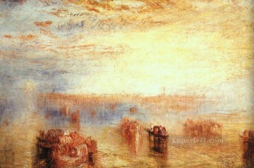 Approach to 1843 Romantic landscape Joseph Mallord William Turner Venice Oil Paintings
