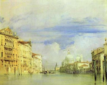 The Grand Canal Romantic seascape Richard Parkes Bonington Venice Oil Paintings