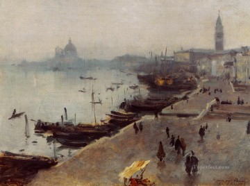 in Gray Weather John Singer Sargent Venice Oil Paintings