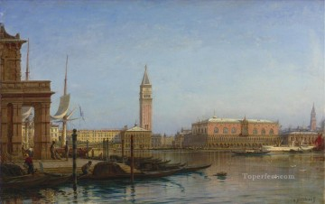VIEW OF VENICE CUSTOMS HOUSE Alexey Bogolyubov cityscape city views classical Oil Paintings