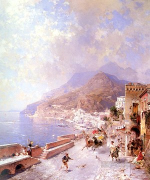 Amalfi Franz Richard Unterberger Venice Oil Paintings