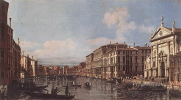 Bernardo Art Painting - View Of The Grand Canal At San Stae Bernardo Bellotto classic Venice