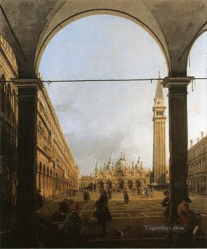 Cityscape Painting - piazza san marco looking east Canaletto Venice