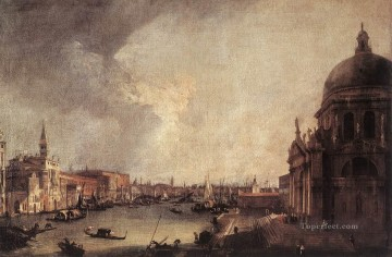 Cityscape Painting - Entrance To The Grand Canal Looking East Canaletto Venice
