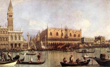 Palazzo Ducale and the Piazza di San Marco Canaletto Venice Oil Paintings