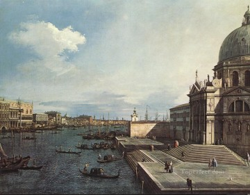 Lute Art - The Grand Canal at the Salute Church Canaletto Venice