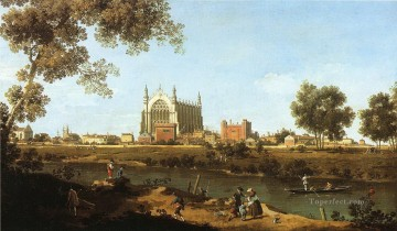 Cityscape Painting - the chapel of eton college 1747 Canaletto Venice
