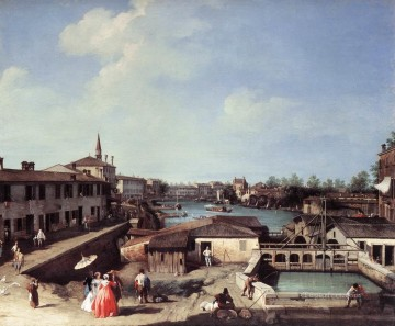 Cityscape Painting - Dolo On The Brenta Venetian Venice Canaletto Venice
