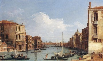 Cityscape Painting - The Grand Canal from Campo S Vio towards the Bacino Canaletto Venice