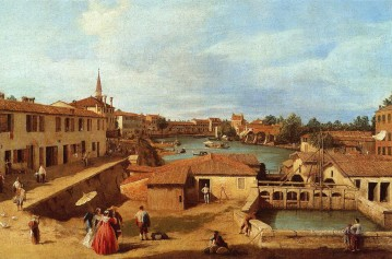 Cityscape Painting - dolo on the brenta Canaletto Venice