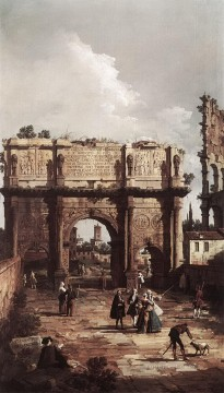 Constant Canvas - rome the arch of constantine 1742 Canaletto Venice