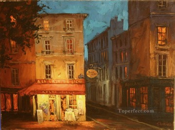 Late Night Rendezvous European Towns Oil Paintings