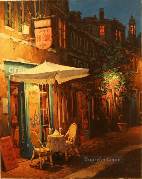 Creperie du Cygne European Towns Oil Paintings