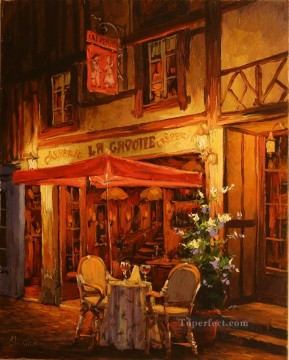 Europe Painting - La Gavotte European Towns
