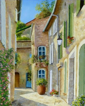 Ruelle montant au chateau Europe Town Oil Paintings