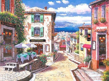 UX019 European Towns Oil Paintings