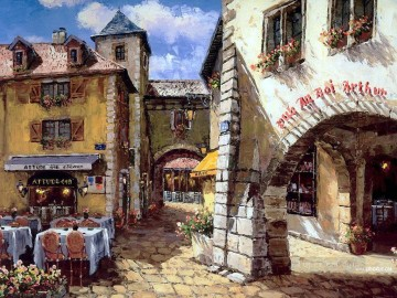 UX021 European Towns Oil Paintings