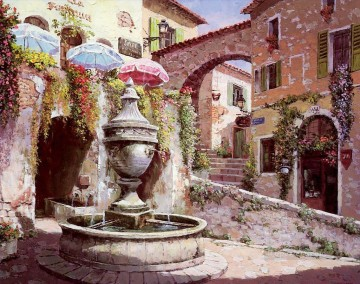 UX007 European Towns Oil Paintings