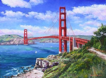 Other Urban Cityscapes Painting - Golden Gate Bridge San Francisco American urban