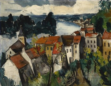 Artworks in 150 Subjects Painting - LANDSCAPE NEAR CHATOU Maurice de Vlaminck cityscape city scenes