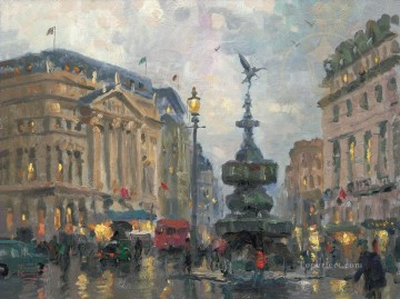 Piccadilly Circus London cityscape Oil Paintings