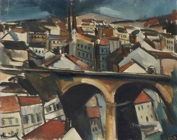 The viaduct Maurice de Vlaminck cityscape city scenes Oil Paintings