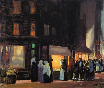bleeker and carmine streets George luks cityscape scenes city Oil Paintings