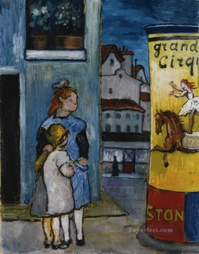 sisters girls Marianne von Werefkin cityscape city scenes Oil Paintings