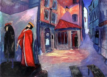 street Marianne von Werefkin cityscape city scenes Oil Paintings