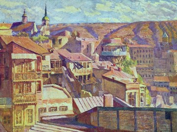 tbilisi maidan Ilya Mashkov cityscape city scenes Oil Paintings