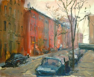 Downtown Street cityscape modern city scenes Oil Paintings