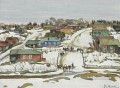 EARLY SPRING IN THE VILLAGE Konstantin Yuon cityscape city scenes