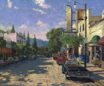 Other Urban Cityscapes Painting - Los Gatos cityscape