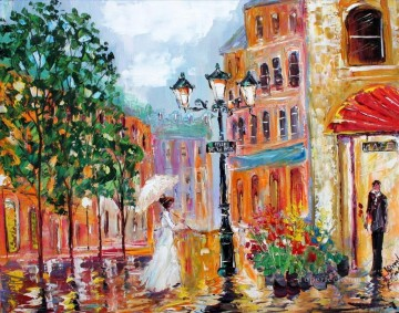 Paris Romance cityscapes Oil Paintings