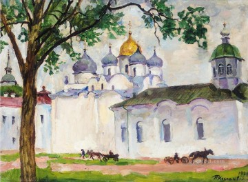 SAINT SOPHIA CATHEDRAL NOVGOROD Petr Petrovich Konchalovsky cityscape city scenes Oil Paintings