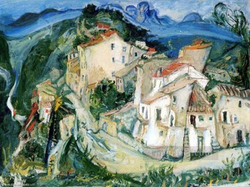 View of Cagnes Chaim Soutine cityscape city scenes Oil Paintings