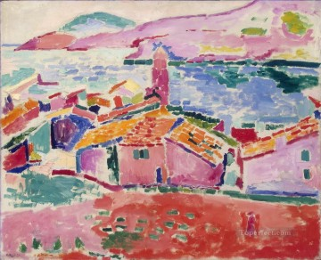 View of Collioure 1906 abstract fauvism Henri Matisse cityscape city scenes Oil Paintings