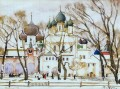 cathederal in rostov the great 1906 Konstantin Yuon cityscape city scenes