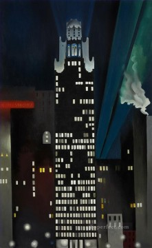 Other Urban Cityscapes Painting - radiator building night new york Georgia Okeeffe city
