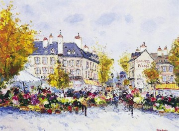 st033E impressionist street scenes urban Oil Paintings