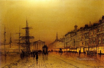 Greenock city scenes John Atkinson Grimshaw cityscapes Oil Paintings