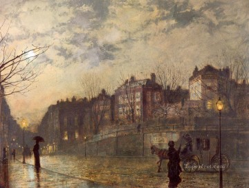 Hampstead city scenes John Atkinson Grimshaw cityscapes Oil Paintings