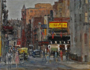 Artworks in 150 Subjects Painting - Jefferson Market cityscape modern city scenes