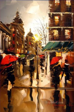 KG cityscape 12 Oil Paintings
