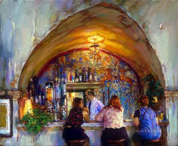 La Colombe D or cafe bar Oil Paintings